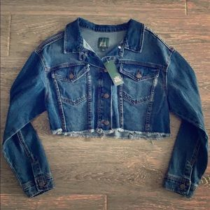 NWT wild fable crop blue denim jean jacket Target